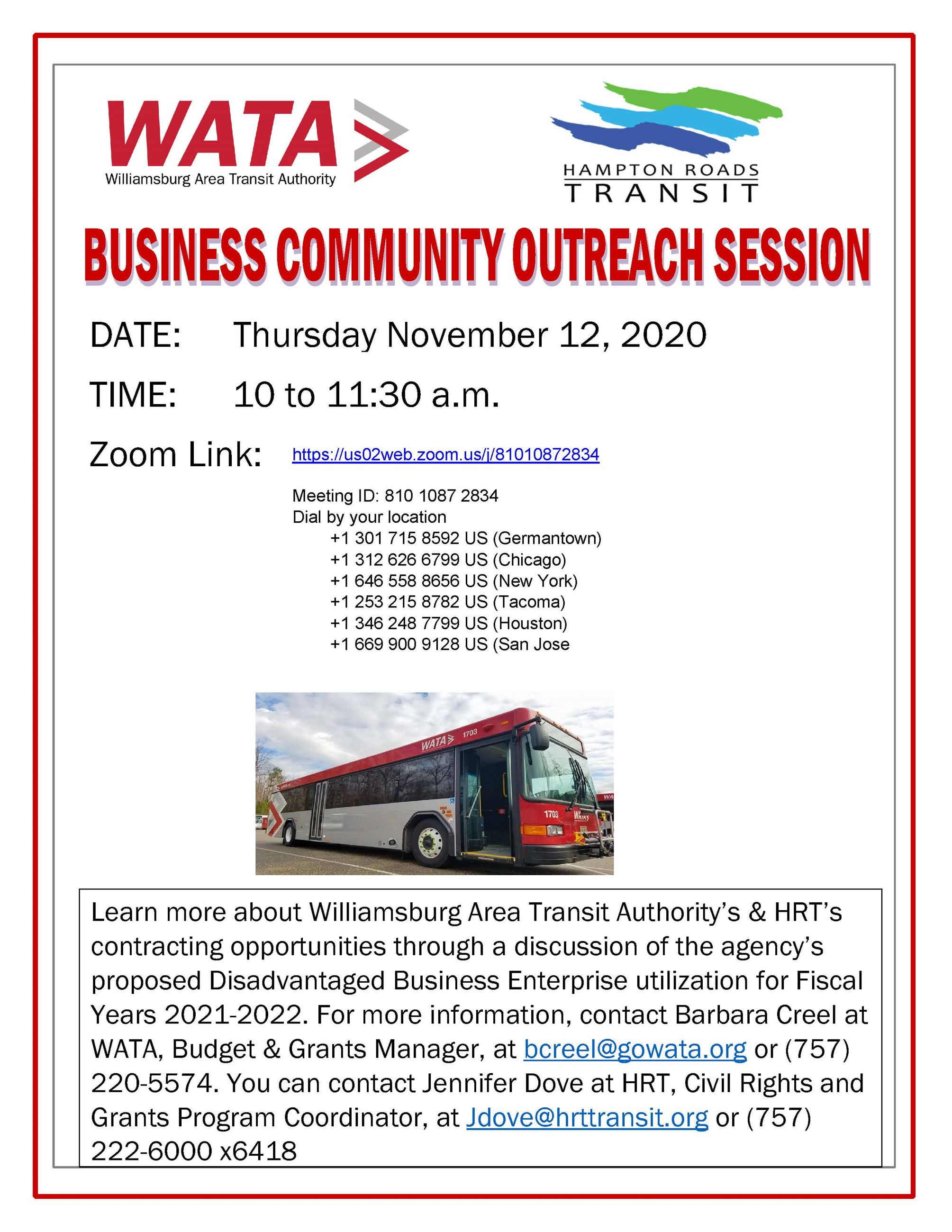 Business Community Outreach Session Flyermc